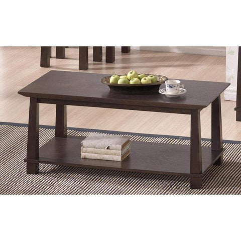 Baxton Studio Havana Brown Wood Modern Coffee Table - RT157A-OCC-Coffee, Accent Tables-Floor Mirror Gallery