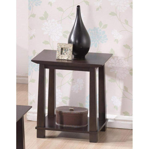 Baxton Studio Havana Brown Wood Modern End Table - RT157B-OCC-Coffee, Accent Tables-Floor Mirror Gallery