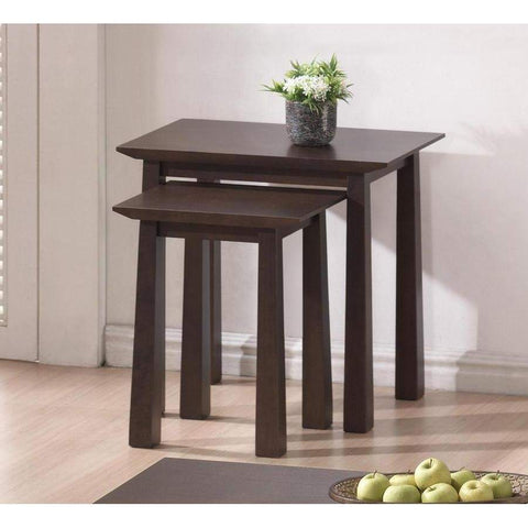 Baxton Studio Havana Brown Wood Modern Nesting Table Set - RT157E-OCC-Coffee, Accent Tables-Floor Mirror Gallery