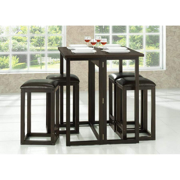 Baxton Studio Leeds Brown Wood Collapsible Pub Table Set - RT174-175-OCC-Pub Sets-Floor Mirror Gallery