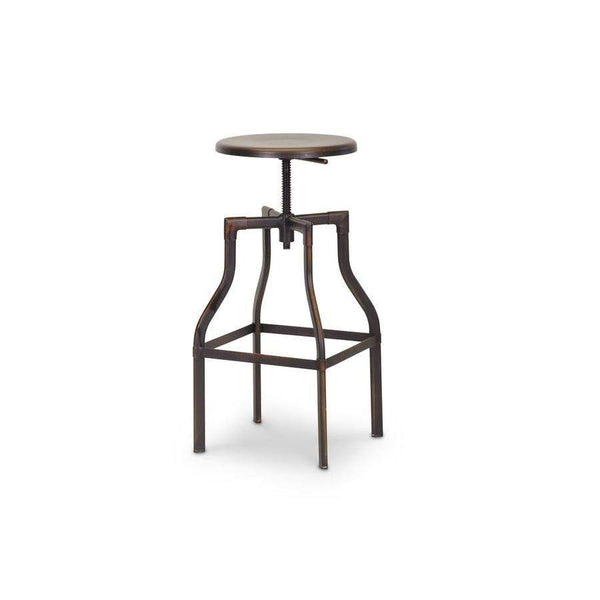 Baxton Studio Architect's Industrial Bar Stool in Antiqued Copper - M-94142-30AC-BS-Bar Stools-Floor Mirror Gallery