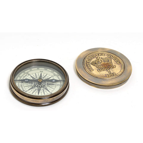 Makers to the Queen Compass w leather case Model ND004 by Old Modern Handicrafts-Models-Floor Mirror Gallery