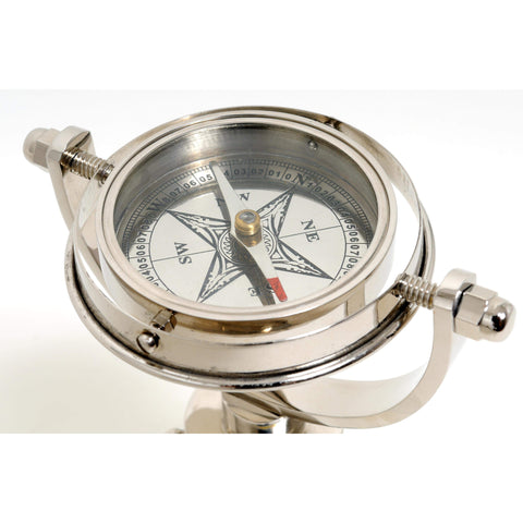 Gimbaled Compass on tristand Model ND009 by Old Modern Handicrafts-Models-Floor Mirror Gallery