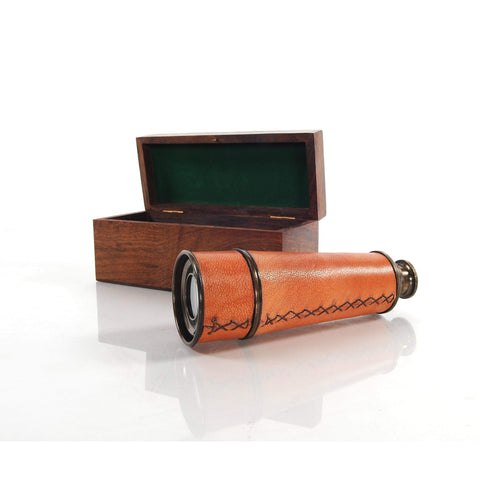 Handheld Telescope in wood box Model ND023 by Old Modern Handicrafts-Models-Floor Mirror Gallery