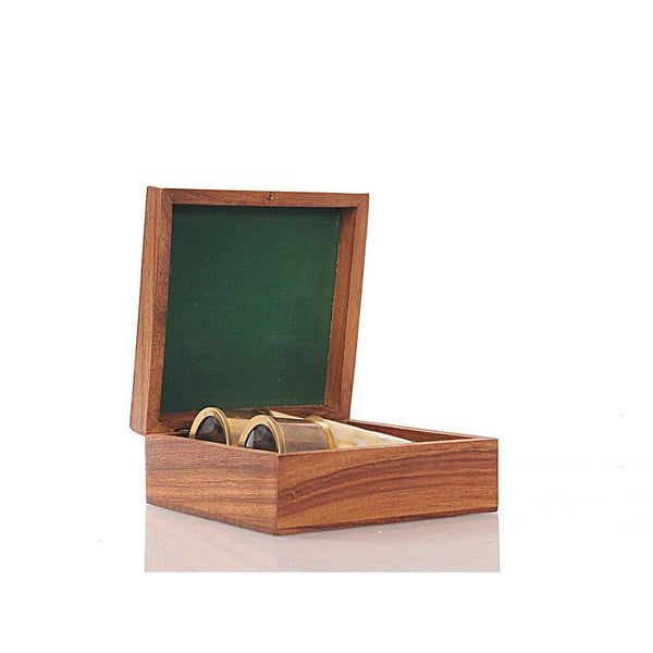 Binocular w MOP overlay in wood box Model ND031 by Old Modern Handicrafts-Models-Floor Mirror Gallery