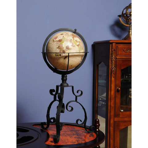 Globe on tristand Model ND033 by Old Modern Handicrafts-Models-Floor Mirror Gallery