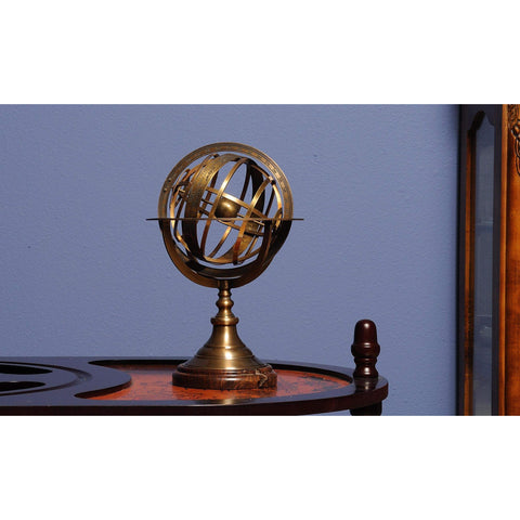 Armillary Sphere on wood base Model ND042 by Old Modern Handicrafts-Models-Floor Mirror Gallery