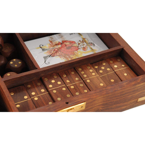 Wooden Game Set with Brass Goblet Model ND061 by Old Modern Handicrafts-Models-Floor Mirror Gallery