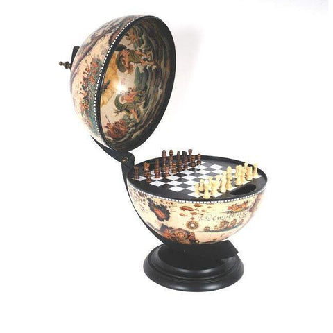 White Globe 13 inches with chess holder Model NG015 by Old Modern Handicrafts-Models-Floor Mirror Gallery
