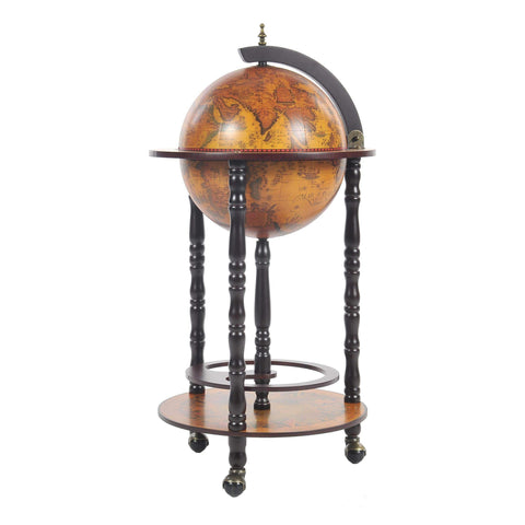 Globe Bar Table 330mm 4 Legs Stand - Red Model NG018 by Old Modern Handicrafts-Models-Floor Mirror Gallery