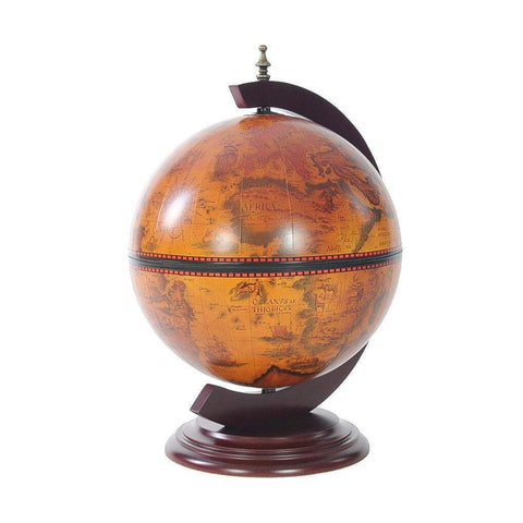 Red Globe 13 inches with Chess Holder Model NG019 by Old Modern Handicrafts-Models-Floor Mirror Gallery
