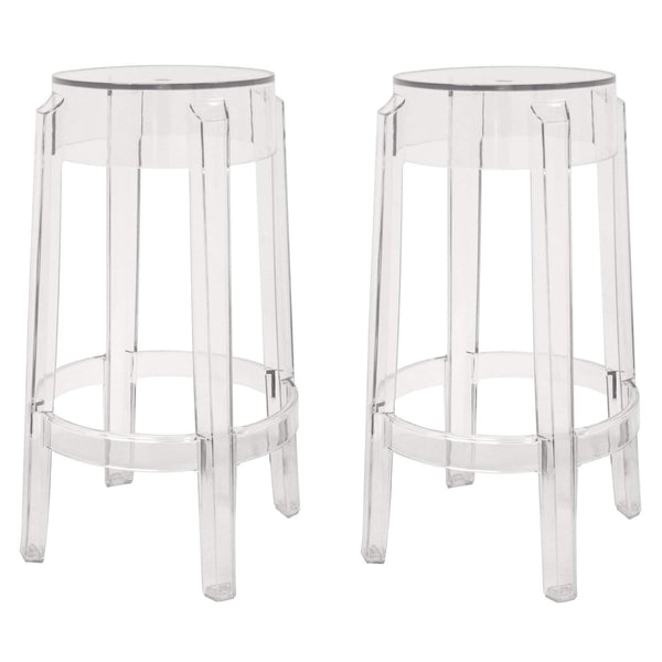 Baxton Studio Bettino Clear Acrylic Counter Stool - PC-502B-clear-Bar Stools-Floor Mirror Gallery