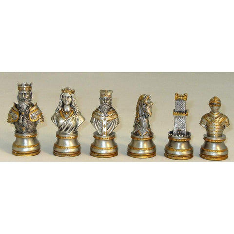 Pewter Camelot Men, Royal Chess, China, PC8552, by WorldWise Imports-Chessmen-Floor Mirror Gallery