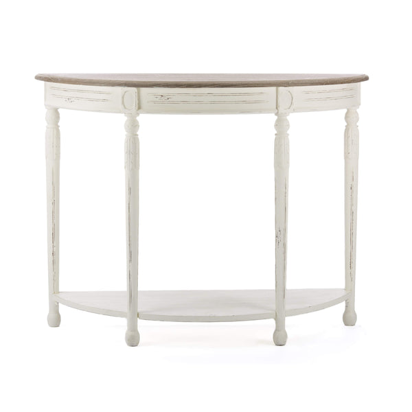 Baxton Studio Vologne Traditional White Wood French Console Table - PLM2VM/M B-CA-Console Tables-Floor Mirror Gallery