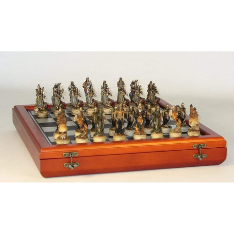 Skeleton Kings Cherry Chest, Royal Chess, China, R70637-CCT, by WorldWise Imports-Chess Set-Floor Mirror Gallery
