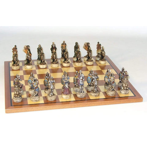 Skeleton Kings Sapele Board, Royal Chess, China, R70637-SM, by WorldWise Imports-Chess Set-Floor Mirror Gallery