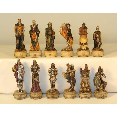 Skeleton Kings, Royal Chess, China, R70637, by WorldWise Imports-Chessmen-Floor Mirror Gallery