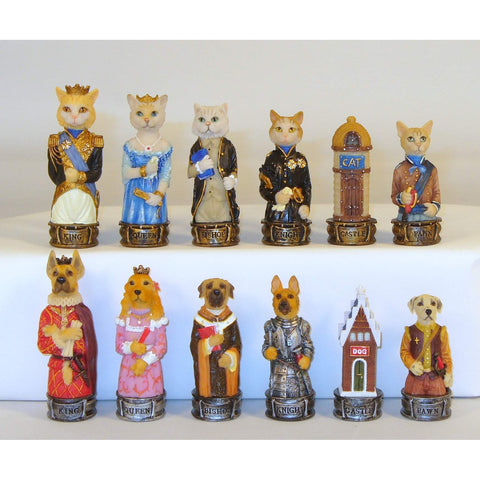 Cats & Dogs, Royal Chess, China, R70639, by WorldWise Imports-Chessmen-Floor Mirror Gallery
