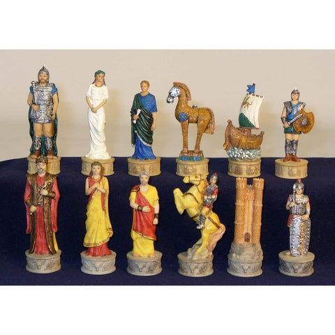 Troy vs Sparta Chessmen, Royal Chess, China, R72048, by WorldWise Imports-Chessmen-Floor Mirror Gallery