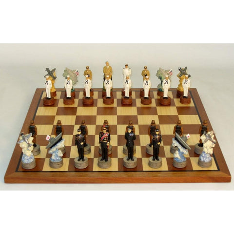Pearl Harbor Chess Set, Royal Chess, China, R74570-SM, by WorldWise Imports-Chess Set-Floor Mirror Gallery