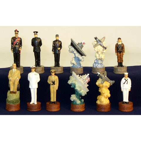 Pearl Harbor Chessmen, Royal Chess, China, R74570, by WorldWise Imports-Chessmen-Floor Mirror Gallery