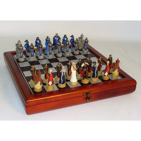 King Arthur Chest Set, Royal Chess, China, R75138-CCT, by WorldWise Imports-Chess Set-Floor Mirror Gallery