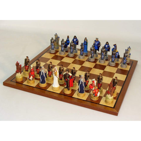 King Arthur Sapele Maple Set, Royal Chess, China, R75138-SM, by WorldWise Imports-Chess Set-Floor Mirror Gallery