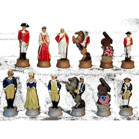 American Revolution Chessmen, Royal Chess, China, R75171, by WorldWise Imports-Chessmen-Floor Mirror Gallery