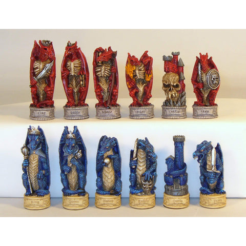Dragon's Keep Chessmen, Royal Chess, China, R75639, by WorldWise Imports-Chessmen-Floor Mirror Gallery