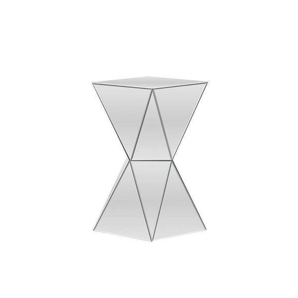 Baxton Studio Rebecca Contemporary Multi-Faceted Mirrored Side Table - RS1764-Coffee, Accent Tables-Floor Mirror Gallery