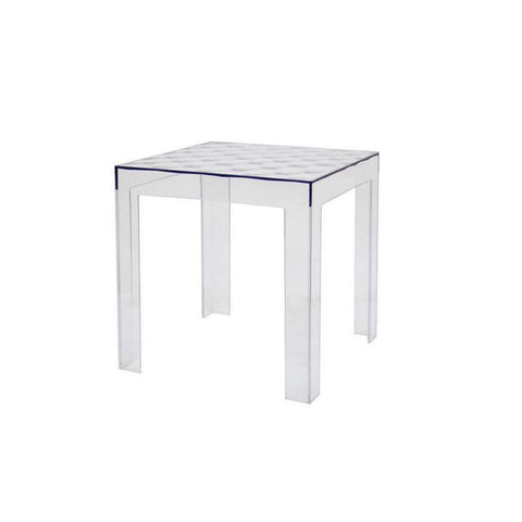 Baxton Studio Parq Clear Acrylic Modern End Table - RT-637-Coffee, Accent Tables-Floor Mirror Gallery