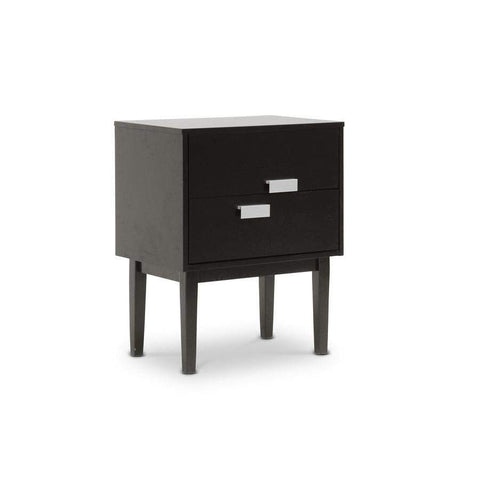 Baxton Studio Redgrave Dark Brown Modern Nightstand or End Table - RT292-NSD-Nightstands-Floor Mirror Gallery