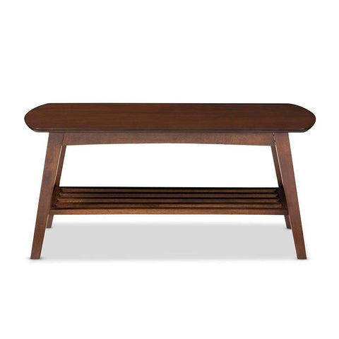 Baxton Studio Sacramento Mid-century Modern Scandinavian Style Dark Walnut Coffee Table - RT295A-OCC-Coffee, Accent Tables-Floor Mirror Gallery