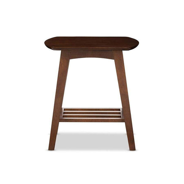 Baxton Studio Sacramento Mid-century Modern Scandinavian Style Dark Walnut End Table   - RT295B-OCC-Coffee, Accent Tables-Floor Mirror Gallery
