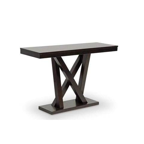 Baxton Studio Everdon Dark Brown Modern Sofa Table - SA107-Console Table-Console Tables-Floor Mirror Gallery