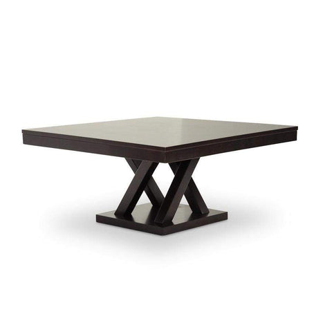Baxton Studio Everdon Dark Brown Modern Coffee Table - SA108-Coffee Table-Coffee, Accent Tables-Floor Mirror Gallery
