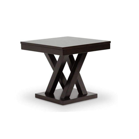 Baxton Studio Everdon Dark Brown Modern End Table - SA109-Side Table-Coffee, Accent Tables-Floor Mirror Gallery
