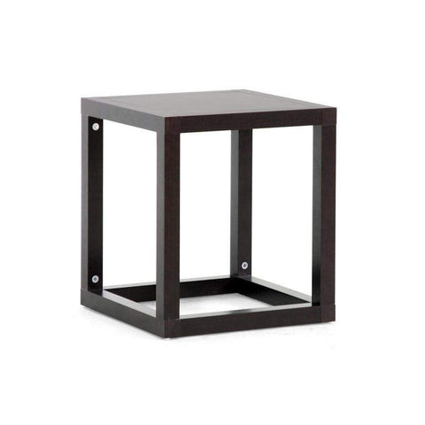 Baxton Studio Hallis Brown Modern Accent Table and Nightstand - ST-001-AT-Nightstands-Floor Mirror Gallery