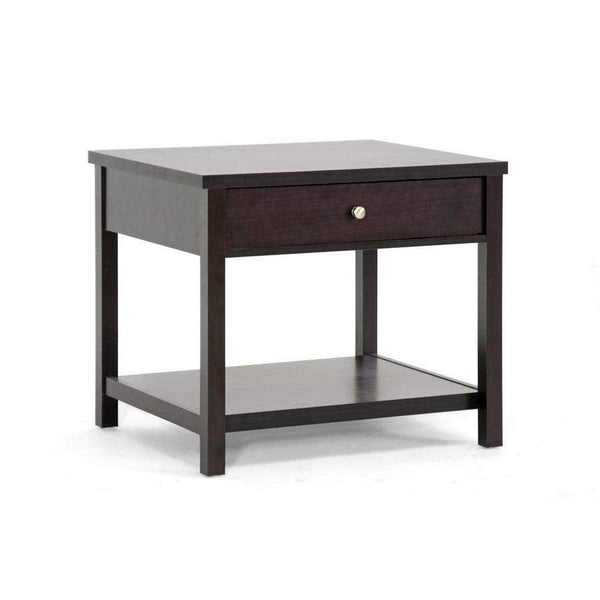 Baxton Studio Nashua Brown Modern Accent Table and Nightstand - ST-002-AT-Nightstands-Floor Mirror Gallery