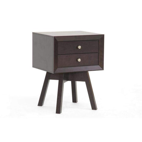 Baxton Studio Warwick Brown Modern Accent Table and Nightstand - ST-005-AT-Nightstands-Floor Mirror Gallery