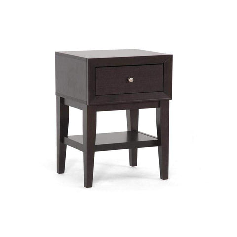 Baxton Studio Gaston Brown Modern Accent Table and Nightstand - ST-007-AT-Nightstands-Floor Mirror Gallery