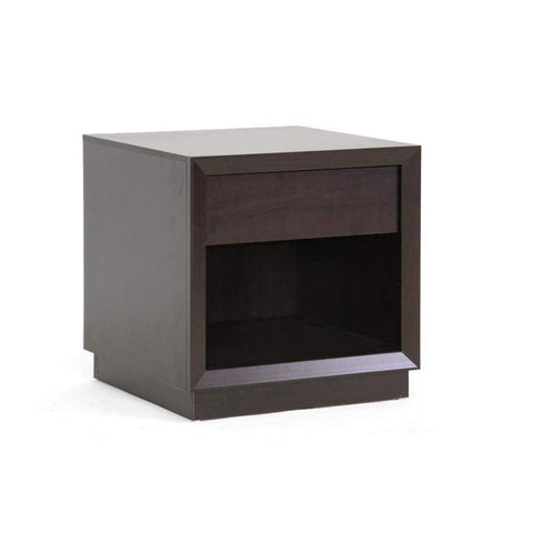 Baxton Studio Girvin Brown Modern Accent Table and Nightstand - ST-008-AT-Nightstands-Floor Mirror Gallery