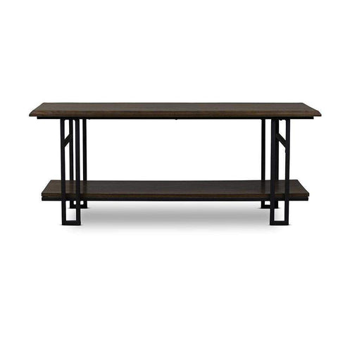 Baxton Studio Newcastle Wood and Metal Coffee Table - YLX-2646-CT-Coffee, Accent Tables-Floor Mirror Gallery
