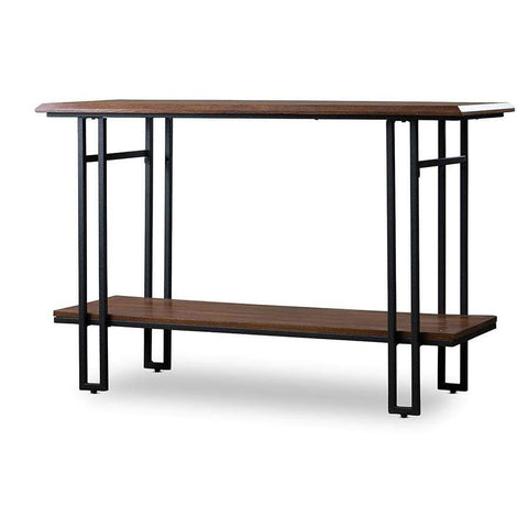 Baxton Studio Newcastle Wood and Metal Console Table - YLX-2646-ST-Coffee, Accent Tables-Floor Mirror Gallery