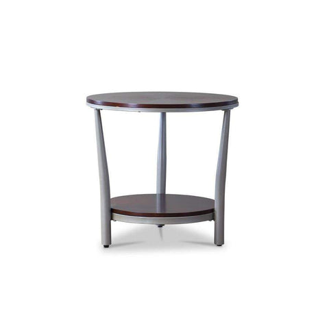 Baxton Studio Halo Wood and Metal Contemporary Coffee Table—Regular - YLX-2667-ET-Coffee, Accent Tables-Floor Mirror Gallery