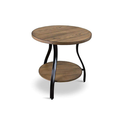 Baxton Studio Newcastle Wood and Metal 3-Piece Table Set - YLX-2682-AT-Coffee, Accent Tables-Floor Mirror Gallery