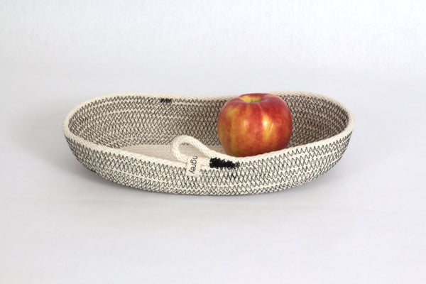 Woven Cotton Nesting Baskets Handmade in Organic Oval Shapes, from 12 inches to 15 inches