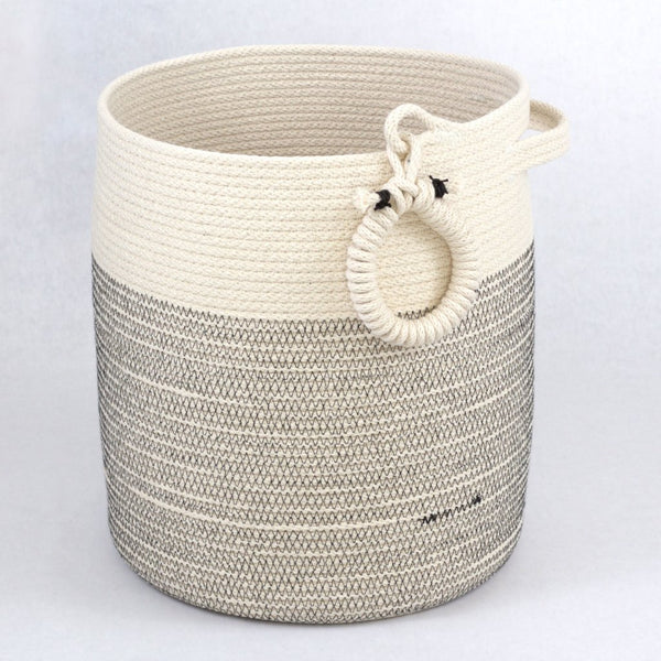 Large Zen Spa and Yoga Storage Basket Woven Cotton Neutral Colors 11 x 13 inches,  Spa and relaxation baskets, one of a kind gift basket, spa gift basket, yoga studio storage basket, yoga mat woven structured  basket, zen floor basket, minimalist basket, structured rustic modern floor basket, structured spa towel basket, luxury handmade floor basket, rustic modern towel storage basket, large American made artisan basket