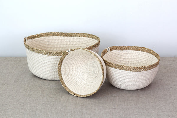 Medium Sized Sweetgrass Basket
