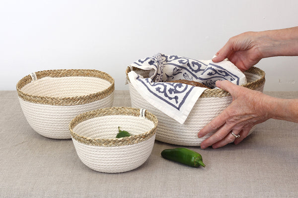 Sweetgrass Round Basket - Small